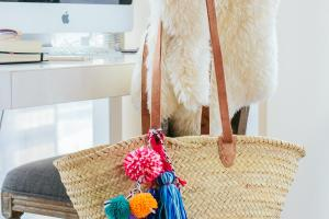 Diy Pom Beach Bag
