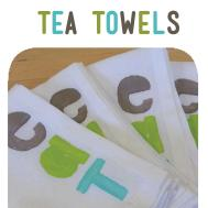 Diy Potato Stamp Printed Tea Towels Dear Handmade Life
