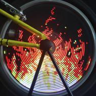Diy Programmable Bike Bicycle Wheel 96rgb Colorful Monkey
