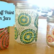 Diy Puff Paint Mason Jars Something Fishy
