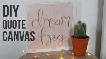 Diy Quote Canvas Dream Big Inspired Decor