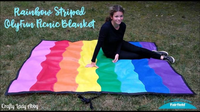 Diy Rainbow Striped Olyfun Picnic Blanket Crafts