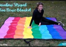 Diy Rainbow Striped Olyfun Picnic Blanket Crafts