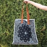 Diy Reversible Bandana Bag Leather Straps Oleander