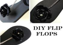 Diy Rose Chain Flip Flop