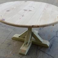 Diy Round Trestle Table Onpointwooddesign Etsy
