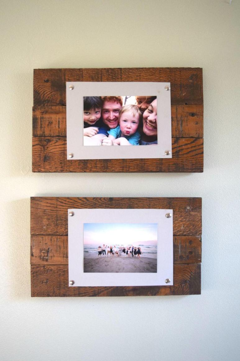 Diy Rustic Scrap Wood Frames Spotlight Favorite Photos