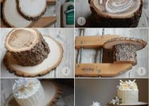 Diy Rustic Wedding Cake Stand Once Wed
