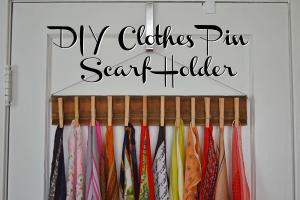 Diy Scarf Rack Ideas