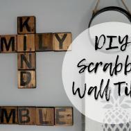 Diy Scrabble Tiles Wall Art Letters Decor