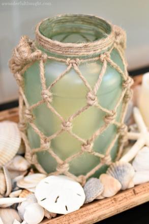 Diy Sea Glass Rope Lantern Awonderfulthought