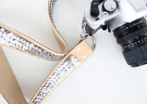 Diy Sew Sequin Camera Strap Sugar Cloth