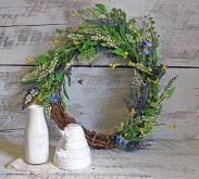 Diy Silk Wildflower Summer Wreath Lavender Linen Lace