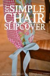 Diy Simple Chair Slipcover Living Well Spending Less
