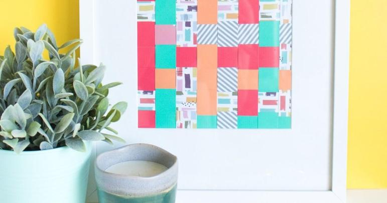 Diy Simple Woven Paper Wall Art Curbly