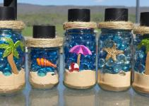Diy Solar Light Jars Beach Theme