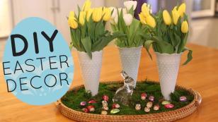 Diy Spring Easter Centerpiece Display Home Decor Idea