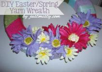 Diy Spring Summer Yarn Wreath Tutorial