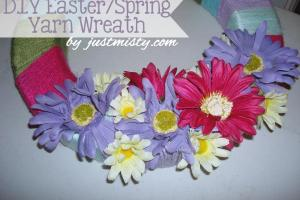 Diy Spring Summer Yarn Wreath Tutorial