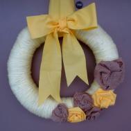Diy Spring Yarn Wreath Crafting Sanity