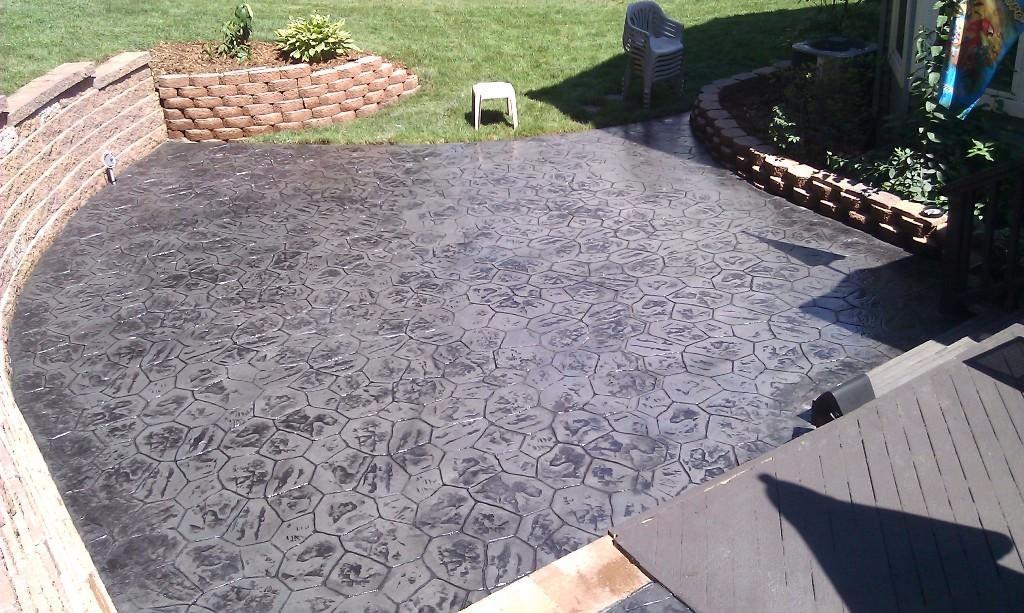 diy stamped concrete patio darcylea