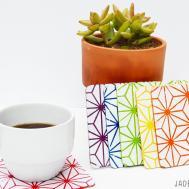 Diy Stenciled Coasters Stencil Jaderbomb