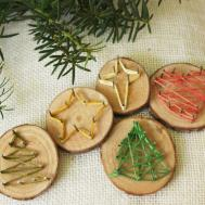 Diy String Art Christmas Tree Ornaments