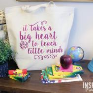 Diy Teacher Tote Gift Idea Inspiration Made Simple