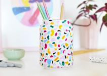 Diy Terrazzo Pencil Holder Enthralling Gumption