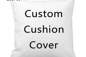 Diy Text Design Print Custom Cushion Cover