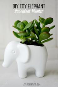 Diy Toy Elephant Succulent Planter Make Love