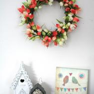 Diy Tulip Wreath Sparkle Day Design