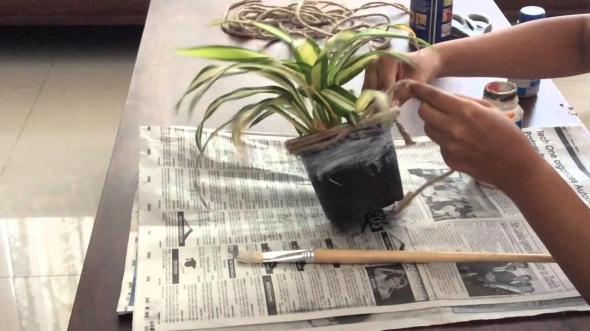 Diy Tutorial Upcycle Flower Pots Wine Bottles Using