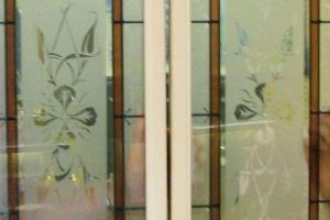 Diy Two Deco Glass Panels Hollow Core Interior Door