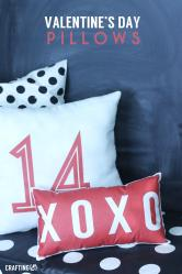 Diy Valentine Pillows Craftinge
