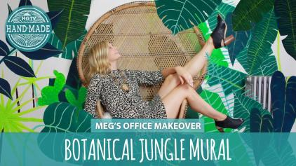 Diy Wall Art Botanical Jungle Mural Handmade