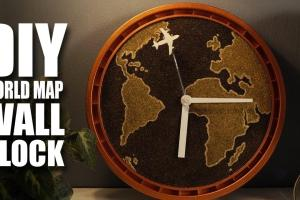 Diy Wall Clock World Map Madstuffwithrob