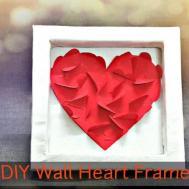 Diy Wall Heart Frame Room Decor Last Minute Cute