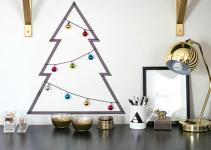 Diy Washi Tape Christmas Tree Decorations