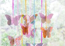 Diy Watercolor Butterfly Mobile