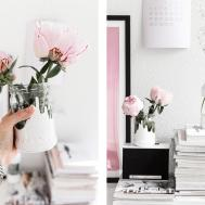 Diy White Painted Flower Vases Thefashionfraction