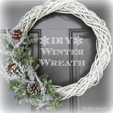 Diy Winter Wreath Puddy House