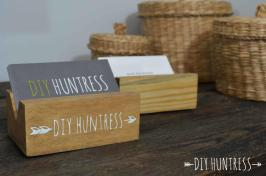 Diy Wooden Business Card Holder Huntress