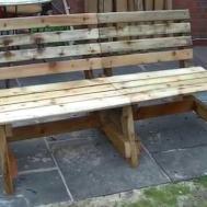 Diy Wooden Pallet Outdoor Bench Garden