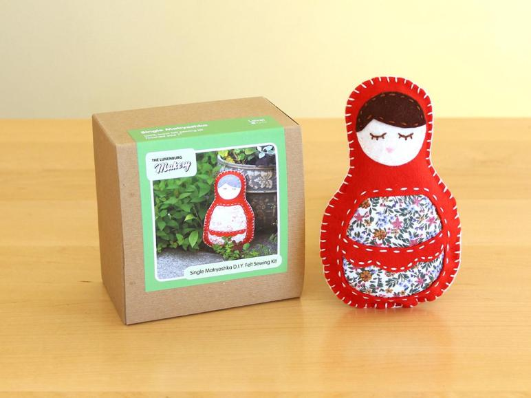 Diy Wool Felt Matryoshka Doll Sewing Kit