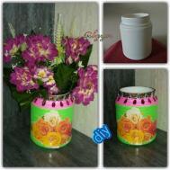 Diy Woolen Flower Vase Best Out Waste Crafts