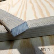 Diy Workshop Wooden Door Mat Sawdust Sequins