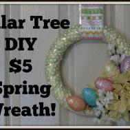 Dollar Tree Decor Diy Spring Wreath