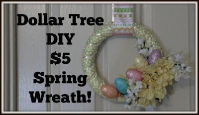 Dollar Tree Decor Diy Spring Wreath