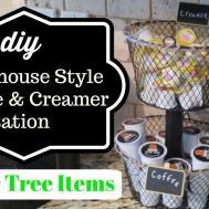 Dollar Tree Diy Farmhouse Style Coffee Creamer Station